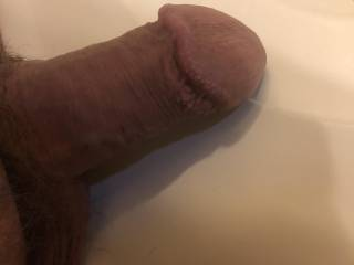 My soft cock.  Laying on the sink.