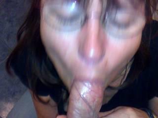 girlfriend sucking my cock in public restroom