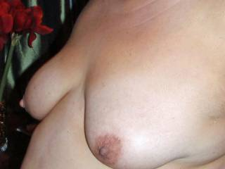 I;d love to cum on your big tits,then lick them clean for you.
