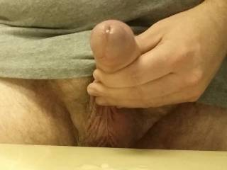 I do this about twice a year. I used my aneros and massaged my prostate. It feels so good but I can only milk out a little bit of cum. I end by jerking off and shoot a huge load (but no spurts, it just pours out).