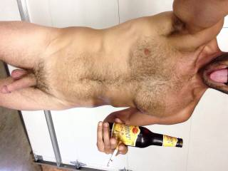 So Blondie\'s simple pleasures are a naked guy who knows how to use his tongue, a nice cock to play with, a ice cold beer and a smoke for after all the above. Damn I\'m good at multitasking! Lol What\'s your simple pleasures?