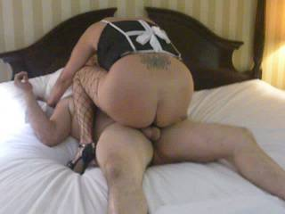 Riding a friend until he cums inside me.......while hubby records the night