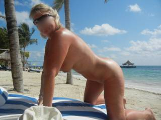 Yeah honey... would love to rub the sun lotion in ALL over, then maybe cover you in my lotion x