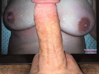 My hard cock for your beautiful breasts.