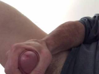 Stroking my cock again. This could be your view! Bullseye!