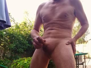 Masturbating outdoors