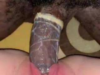Cumming on my young black dick after I\'ve came twice