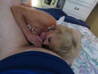 granny licking my cock