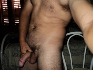 Sweetie its nice....but I'm really looking at that beautifully hung cock.  Can I play with it?  K