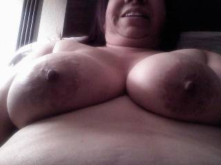 Hubby gets up so early for work. Thought I\'d send him a shot of what\'s waiting at home.