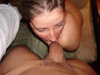 use that slut good. bet she looks good swallowing that cum as well