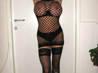OMG, that must be the sexiest pic i've ever seen! That fishnets outfit fit perfectly on your beautiful and hot body!