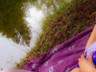 I love the view of you laying there and I also enjoy fishing...maybe I should dangle my bait in front of you? X
