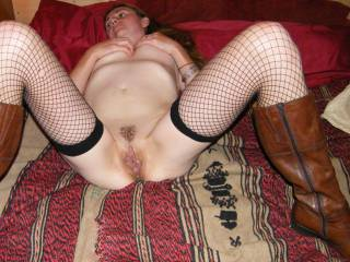 DeeeeLicious spread,  luv to feel her wet pussy wrapped around my thick cock!