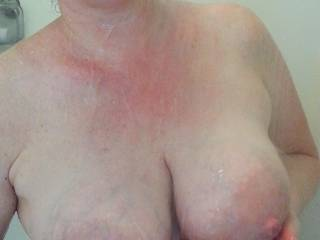 Cradling these milk filled breasts is nice, but I would like to see what you might do with them instead... what would you do?