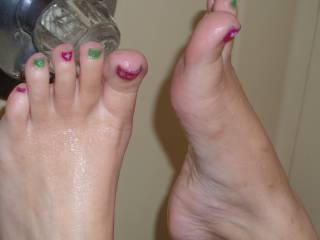sexy Christmas feet
