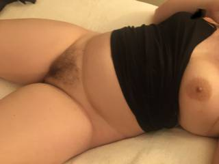 Spread my legs apart and bury your face in my pussy...
