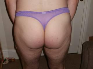 ass in tight purple panties