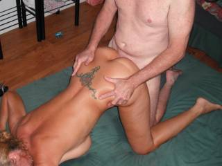I'm getting a good fucking from our friend's extra thick cock at the New Years Eve swinger party