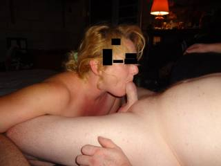 N sucking hubby...the first night they met