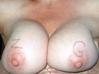beautiful breast luv those hard nipples would luv to run my tongue over them