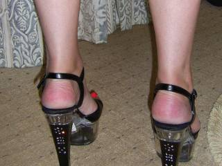 THOSE HEELS ARE GREAT AND WILL ADD TO THE SEXUAL PASSION THAT I HAVE FOR YOU....