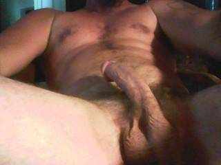 Oh my, now that is a hot delicious mans cock.  My mouth all over it would be comfy too.  I could play with and suck on that hot cock for hours. That is one delicious cock picture.  MILF K