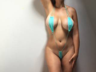 Gorgeous! Love the way you wear those bikinis - any more - love to see some one removing them and having a nice long look and with feeling of course! Yum.