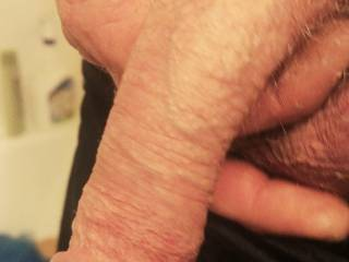 Holding my limp cock just getting ready for a nice erection