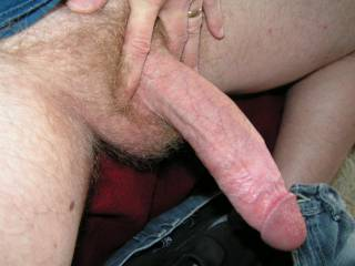 Yes sir that is one hot hard long cock needing some of my hot sucking mouth on it!