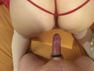 About to take her from behind and enter her beautiful pussy