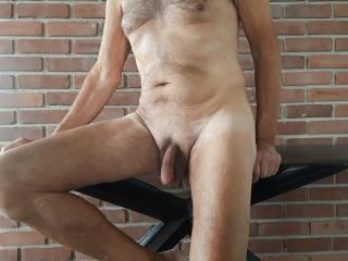 Just enjoying being naked.