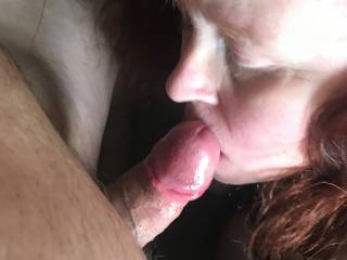 Loving the chance to suck this gorgeous cock again