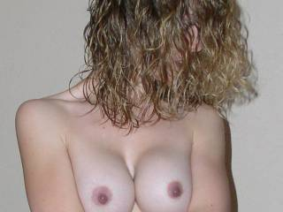 Oh yeah, I love your hard, little perky pink nipples and your gorgeous smooth tits. Lovely.
