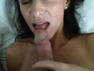 Taking her time...loving on my cock
