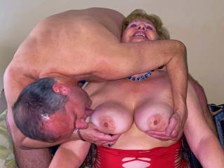 Mr seeker boy dropping in for a tit sucking!!