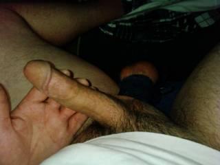 I\'m hard and my balls are tied tight... wanna play?