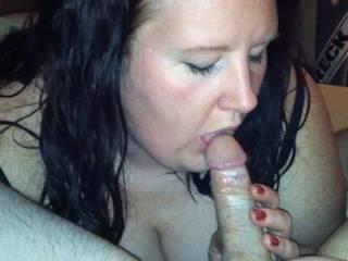 I love sucking my husbands cock!!