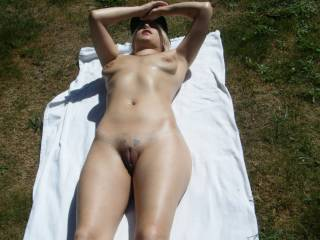 Love how gorgeous and plumpy her hot pussy looks from here. Her shaved cunny and slit look sooooo inviting to have it touched and grabbed under the sun. Her slit looks simply speechless!..