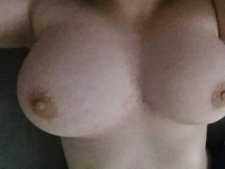 what a sexy pair of breastst, would love to lick and suck your sexy hard nipples then fuck them with my big thick shaved cock...
