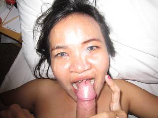 Candy in Jakarta, gets a great facial...