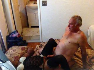a hard cock getting ready to penetrate