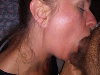 After being out with my girlfriends I bumped into my ex. By the end of the night he talked me into coming back to his place for a few more drinks. He wanted to fuck me again, but it was that time of month so I made do with a blowjob.