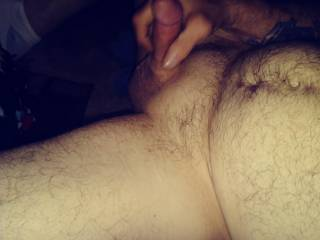 Such a good feeling stroking my cock