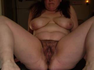 LOVE hairy pussy. I'd love to eat you like that.