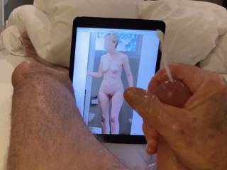 I told Mr. F not to play with his cock while looking at my picture!  Now who is going to fuck me?  From Mrs. Floridaman