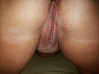 On my knees wanting a nice, thick cock stuffed in my ass and pussy. Yoir choice where you start and where you wanna dull your load! Tell me?!?