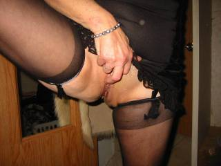 Love you in your silky black stockings. May I tongue that for you ?