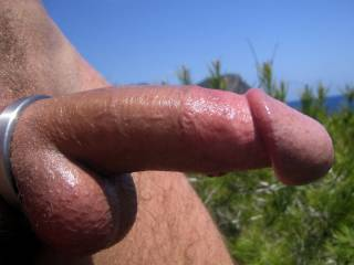 i love my cockring when out in the sun; it gives me a