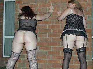 Wife and another lady put there hands up after the raid